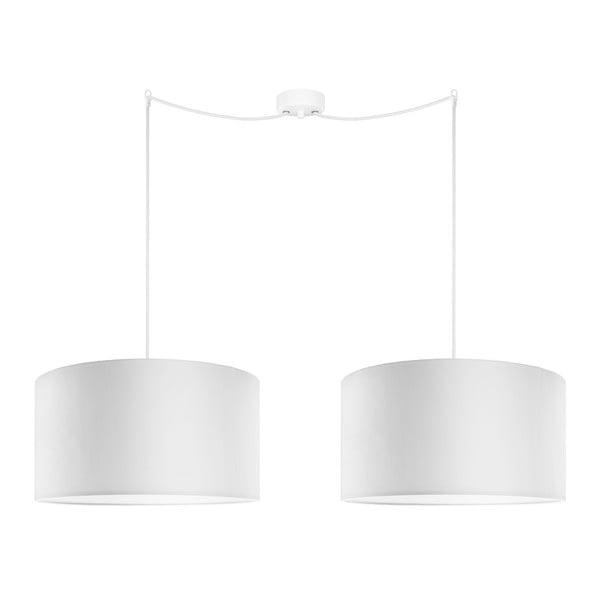 Biała podwójna lampa wisząca Sotto Luce Mika