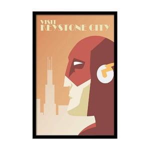 Plakát Visit Keystone City, 35x30 cm