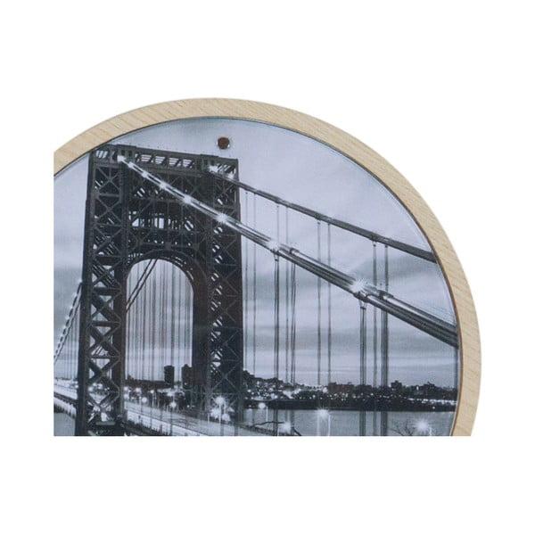 Cuier de perete cu ramă foto magnetică Furniteam Memories, ⌀ 20 cm