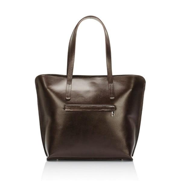 Tmavě hnědá kožená kabelka Giorgio Costa Gerogina