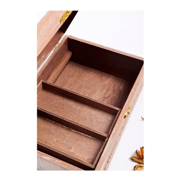 Dřevěná krabička Mes Echarpes