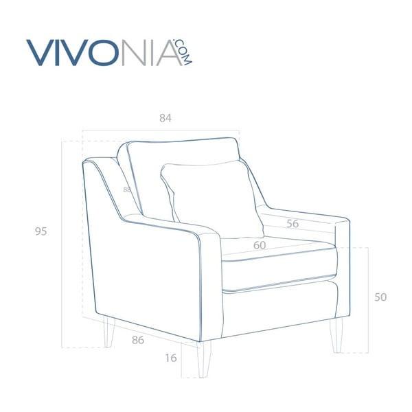 Růžové křeslo Vivonita Bond