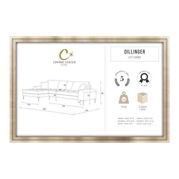 Set canapea gri cu șezlong pe partea stângă, 4 scaune albastre și saltea 160 x 200 cm Home Essentials