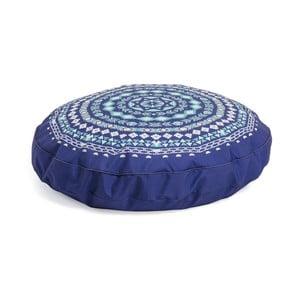 Tmavě modrý vzorovaný puf La Forma Aideen,Ø60cm