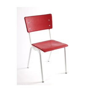 Židle Vinyl-Vinyl, červená