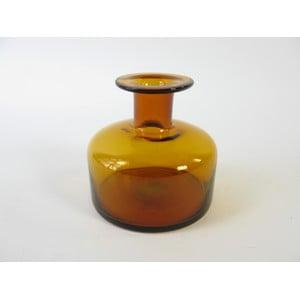 Skleněná váza Jantar, 10 cm