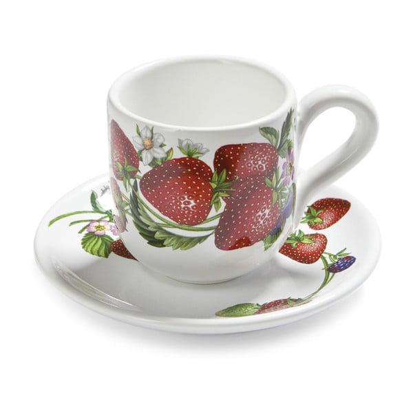 Set čajových šálků s podšálky Fade Fragole, 2ks