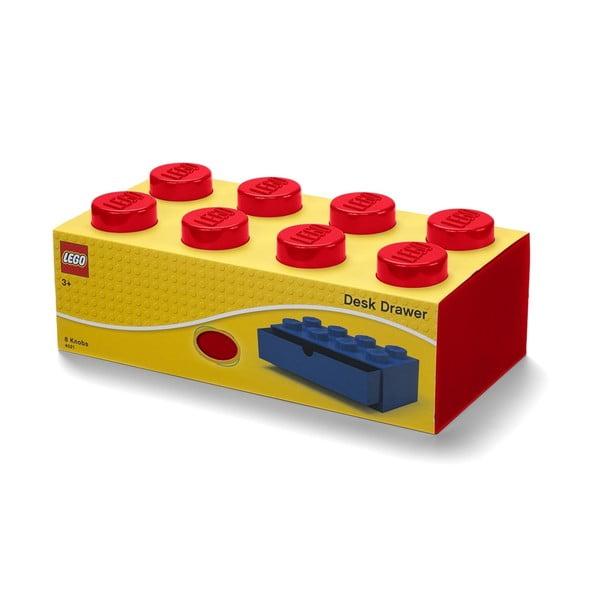 Červený stolní box se zásuvkou LEGO®, 31x16cm