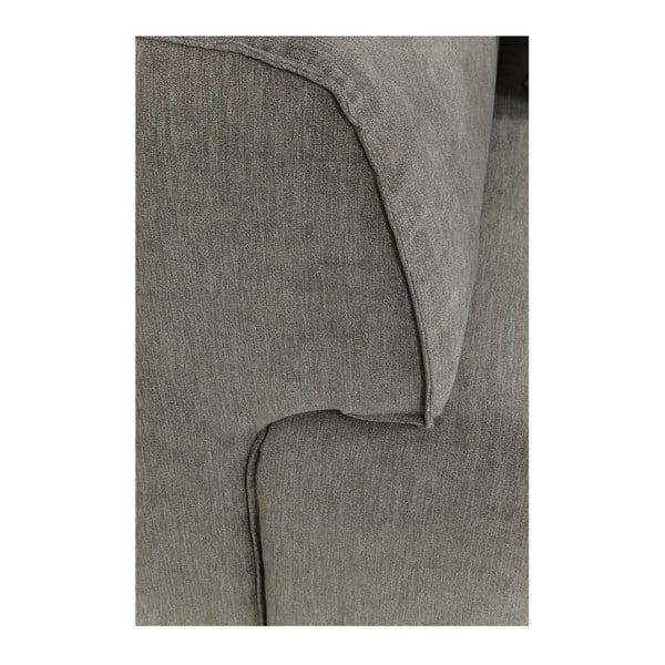 Šedé rohové křeslo Kare Design Elements, levý roh