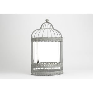 Zrcadlo se šperkovnicí Cage, 42x120 cm