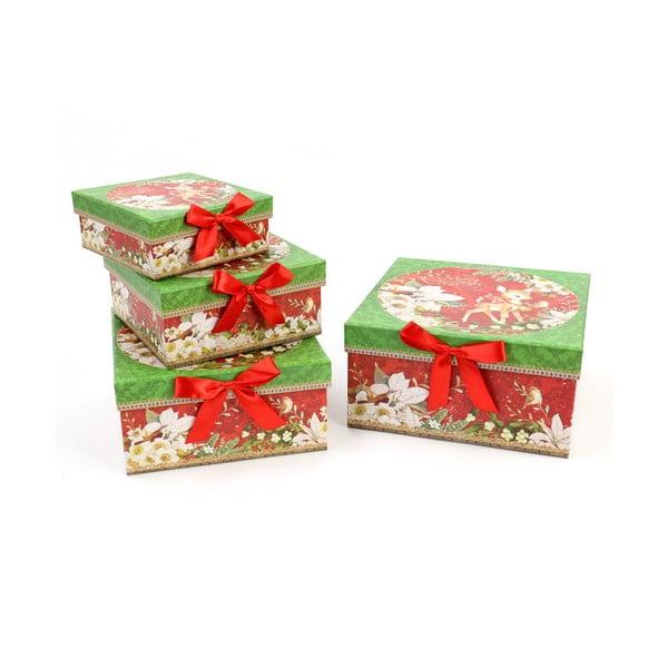 Set 4 cutii de cadou Unimasa Square, 23x23cm