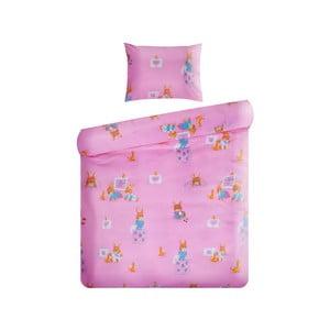 Set povlečení Home de Bleu 100x135 cm, Lovely Rabbit Pink