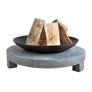 Ohniště na granitovém kruhu EsschertDesign