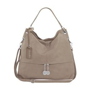 Béžová kožená kabelka Maison Bag Evelyne