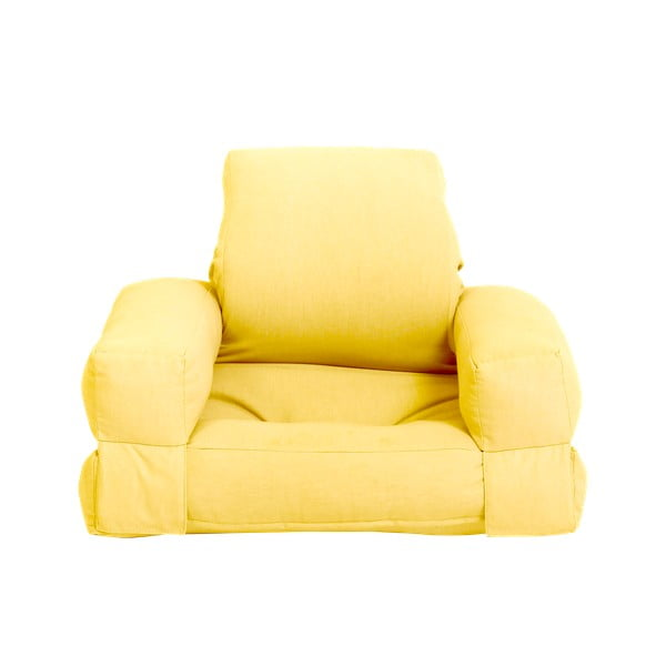Żółty dziecięcy fotel rozkładany Karup Design Mini Hippo Yellow