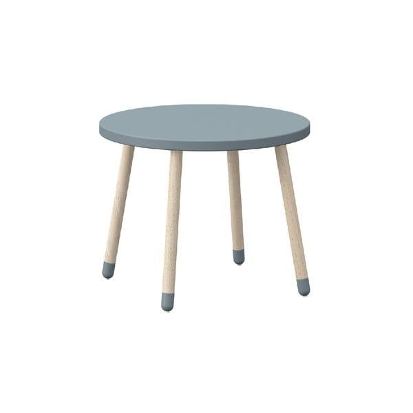 Niebieska dziecięcy stołek dziecięcy z drewna jesionowego Flexa Play, ø 60 cm