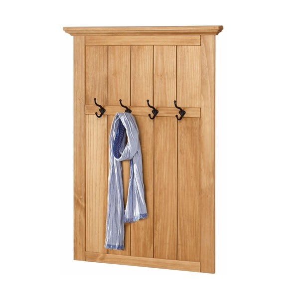 Nástěnný dřevěný věšák na oblečení Støraa Monty