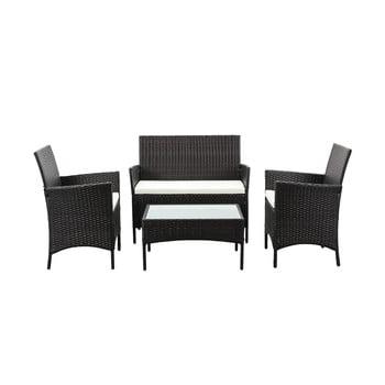 Set mobilier de grădină din ratan artificial Timpana Filia imagine