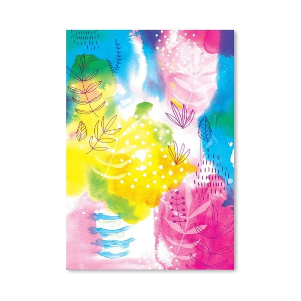 Plakát Yellow Flowers Archival, 30x42 cm
