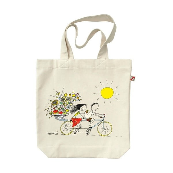 Plátěná taška Na kole