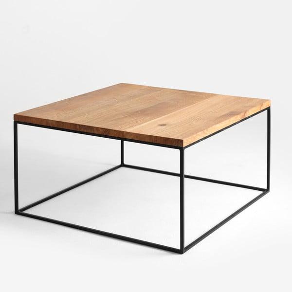 Konferenční stolek s černou konstrukcí a deskou v dekoru dubového dřeva Custom Form Tensio, délka80cm