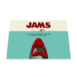 Skleněné prkénko Jams Movie Čelisti, 30x40cm