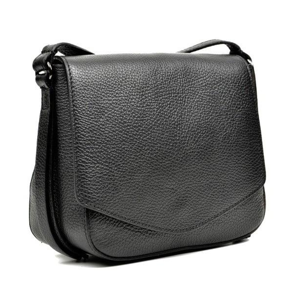 Černá kožená kabelka Carla Ferreri Metelo