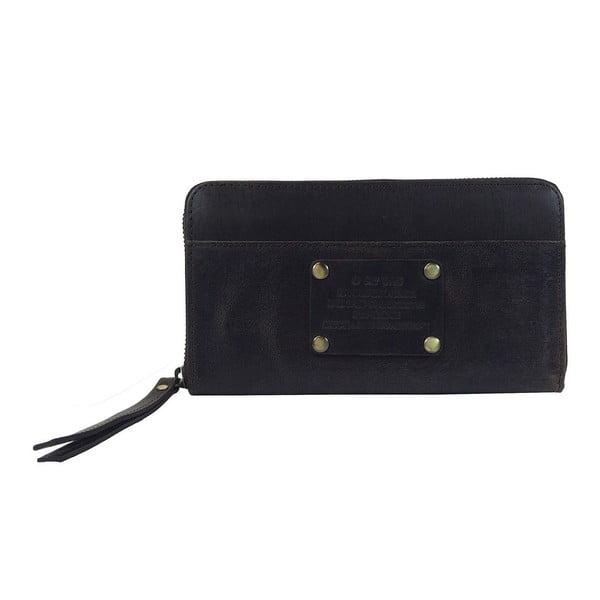 Kožená peněženka Miss Moneypenny, tmavě hnědá