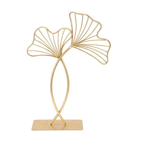 Dekorácia v zlatej farbe Mauro Ferretti Leaf Glam, výška 35 cm