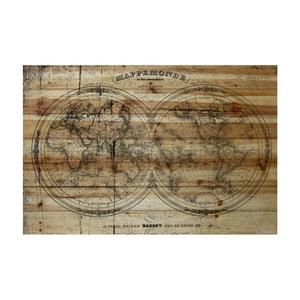 Obraz na dřevě Marmont Hill Wooden World, 61 x 41 cm