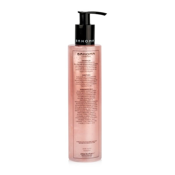 Sprchový gel s vůní limetky a broskve Bahoma London Paradise, 250ml