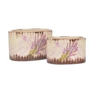 Sada 2 keramických květináčů Lavender