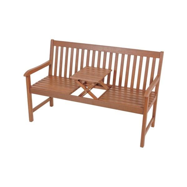Záhradná lavica so skladacím stolíkom z eukalyptového dreva ADDU Denver