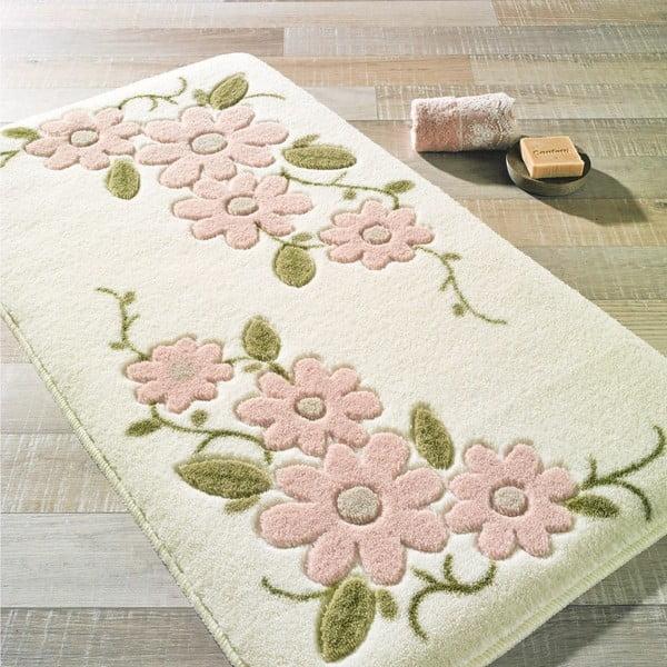 Biały dywanik łazienkowy Confetti Bathmats Margherita, 57x100cm
