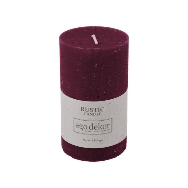Vínově červená svíčka Baltic Candles Rustic, výška 10cm