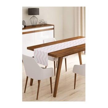 Napron din microfibră pentru masă Minimalist Cushion Covers Pink Stripes, 45x145cm de la Minimalist Cushion Covers
