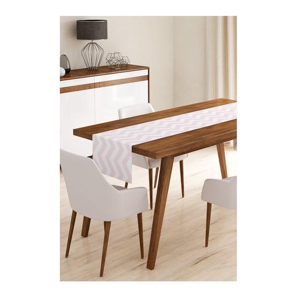Běhoun na stůl z mikrovlákna Minimalist Cushion Covers Pink Stripes, 45x145cm