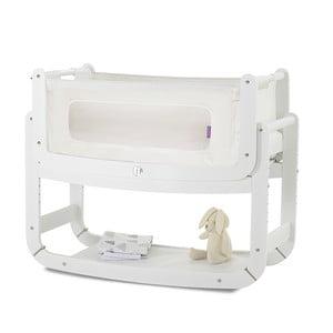 Dětská kolébka s matrací a bílou konstrukcí Snüz SnuzPod²