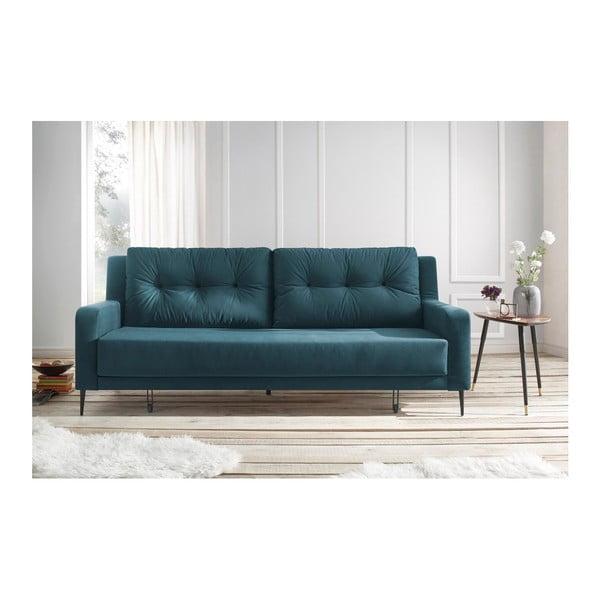 Niebieska sofa rozkładana Bobochic Paris Bergen