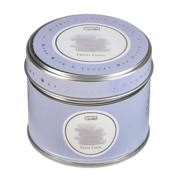 Lumânare parfumată în cutie Copenhagen Candles Fresh Linen, 32 ore