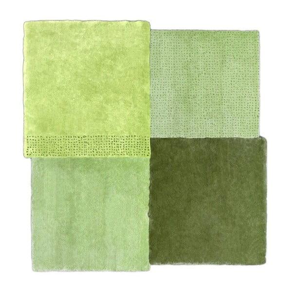Zelený koberec EMKO Over Square, 200 x 207 cm