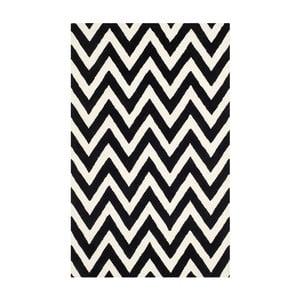 Vlněný koberec Safavieh Stella Black, 274 x 182 cm