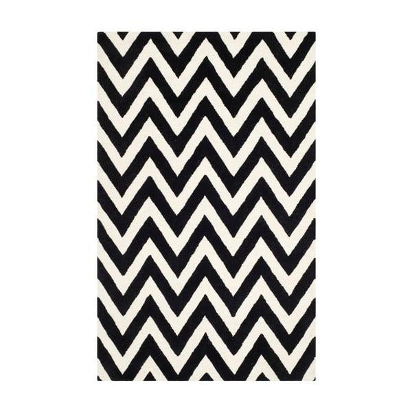 Vlněný koberec Stella Black, 182x274 cm