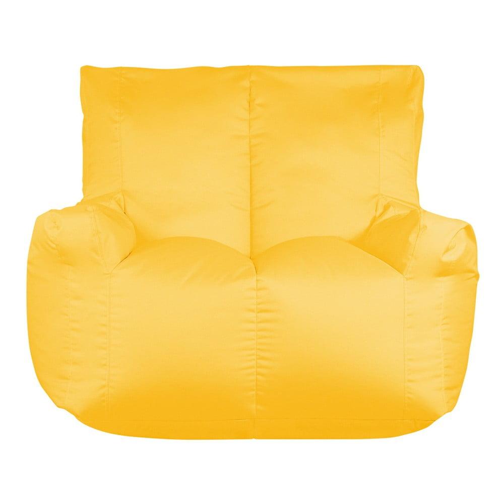 Žlutý sedací vak pro dva Sit and Chill Coron