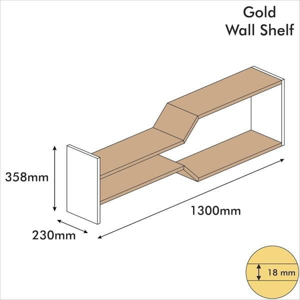 Raft de perete Oro Oscuro, lățime 130 cm