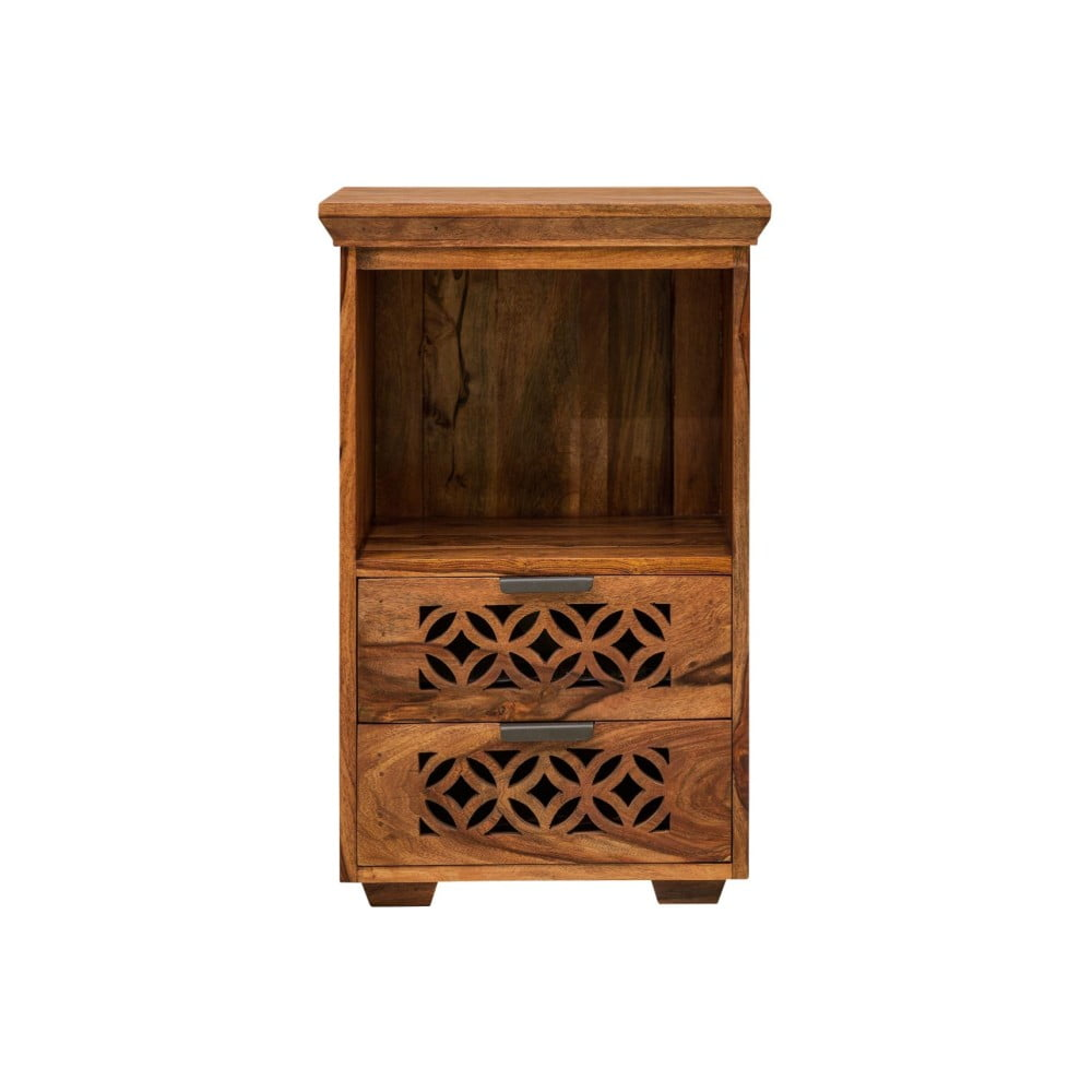Knihovna z palisandrového dřeva se 2 zásuvkami Massive Home Rosie