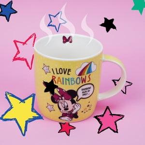 Keramický hrnek Disney Mouse Minnie I Love Rainbows, 400 ml