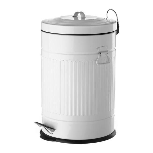 Biely odpadkový kôš z kovu Unimasa, 20 l