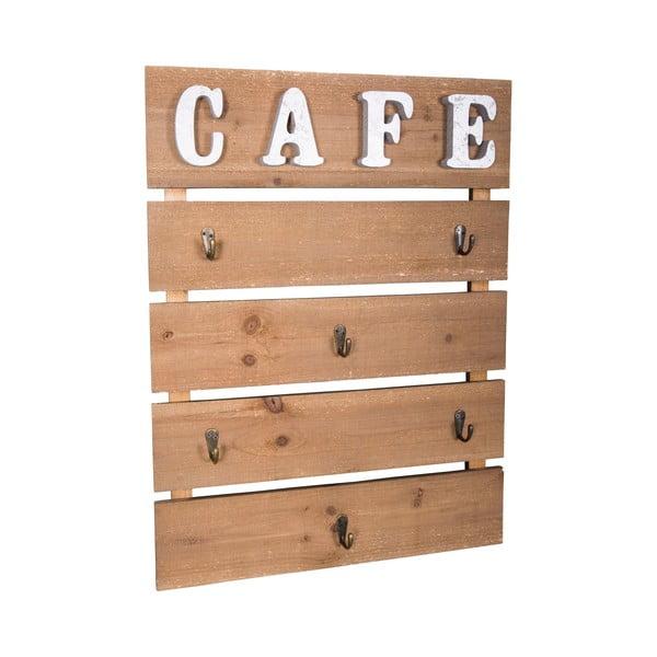 Nástenná drevená dekorácia Antic Line Café