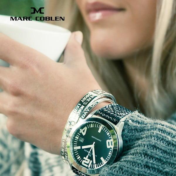 Unisex hodinky Marc Coblen s páskem a kroužkem navíc P5